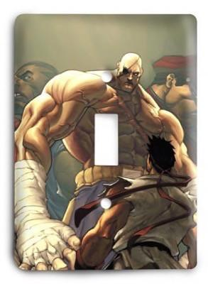 Street Fighter Ultimate 19 Light Switch Cover - Colorful Switches
