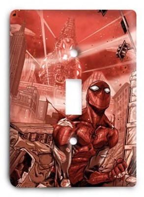 Superior Spiderman RED Light Switch Cover - Colorful Switches
