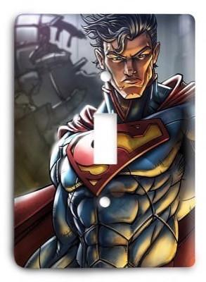 Superman Man of Steel 2 Light Switch Cover - Colorful Switches