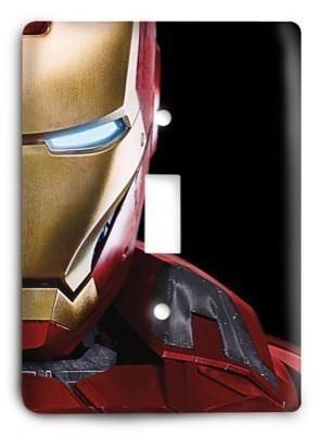The Avengers - Iron-man Light Switch Cover - Colorful Switches