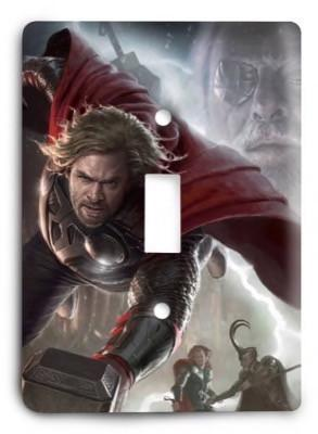 Thor Marvel Comics G3 v1 Light Switch Cover - Colorful Switches