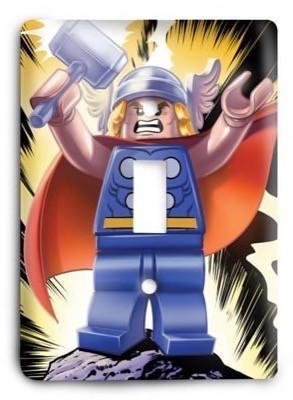 Thor lego Light Switch Cover - Colorful Switches