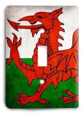 Welsh Light Switch Cover - Colorful Switches