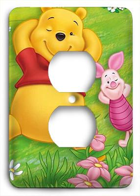 Winnie The Poo Outlet Cover - Colorful Switches