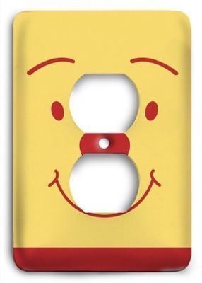 Winnie The Pooh Smile Outlet Cover - Colorful Switches