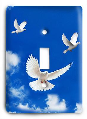 Doves In Flight Light Switch - Colorful Switches