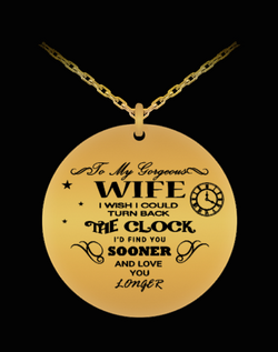 My Wife Necklace - Silver/Gold Chain Pendant For Her - Romantic Gift From Husband - Laser Engraved - Uncle Seal