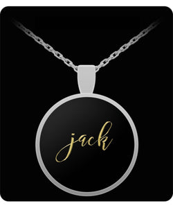Jack Name Necklace - Personalized Charm Pendant -Square/Round - Gold/Silver - Lovely Present For Any Occasion - Son Gift - Uncle Seal