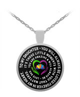 Father and Daughter Necklace - Always Beloved - Inspiration - Love Dad- - Uncle Seal