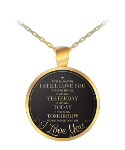 Romantic Gifts For Her - Romantic Necklace - Gold Chain Pendant-