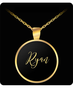 Ryan Name Necklace - Personalized Charm Pendant Gift - Gold/Silver - Lovely Present - Uncle Seal