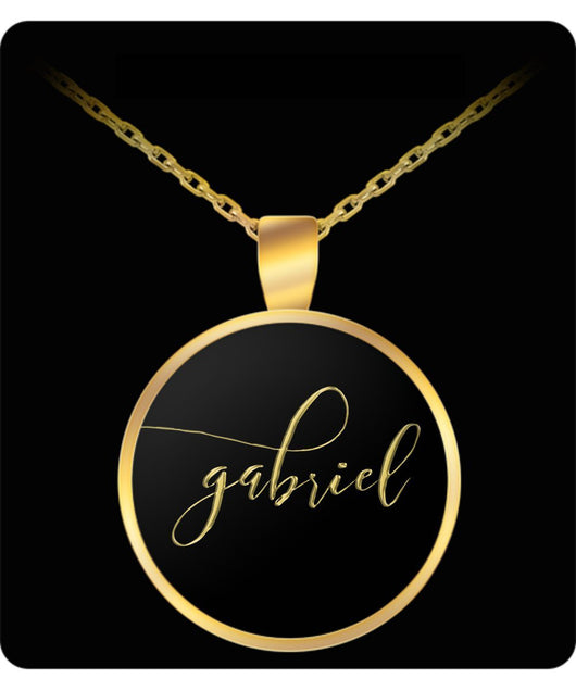 Gabriel Name Necklace - Personalized Charm Pendant Gift - Gold/Silver Color  - Lovely Present - Uncle Seal