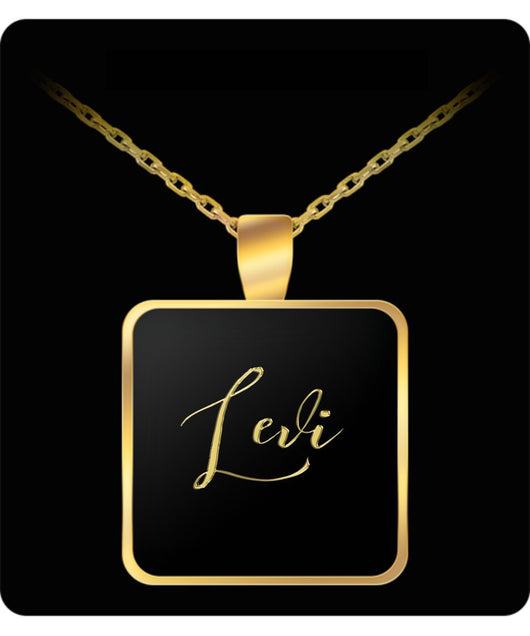 Levi Name Necklace - Personalized Charm Pendant Gift - Gold/Silver - Lovely Present - Uncle Seal