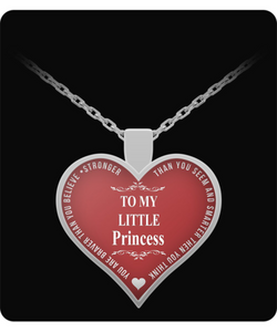 Mother Daughter Heart Necklace - To My Little Princess - Inspirational - Cute Gift - Uncle Seal