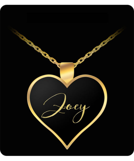 Zoey Name Necklace - Personalized Charm Heart Pendant - Gold/Silver - Lovely Present For Any Occasion - Daughter Gift - Uncle Seal