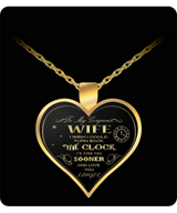 Husband And Wife Heart Necklaces - Gold - Turn Back the Clock - Uncle Seal