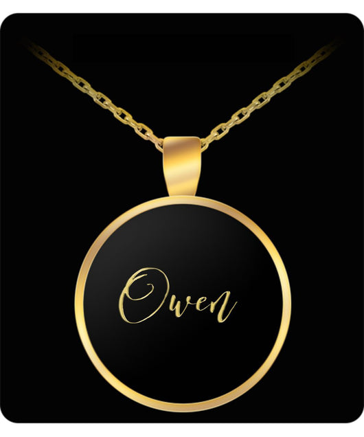 Owen Name Necklace - Personalized Charm Pendant Gift - Gold/Silver - Lovely Present - Uncle Seal