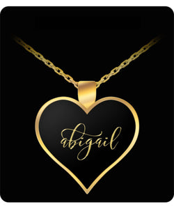 Abigail Name Necklace - Personalized Charm Pendant Gift -Lovely Present - Uncle Seal