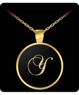 Y Initial Necklace - Heart Gold Plated Chain Pendant - Name Charm - Uncle Seal