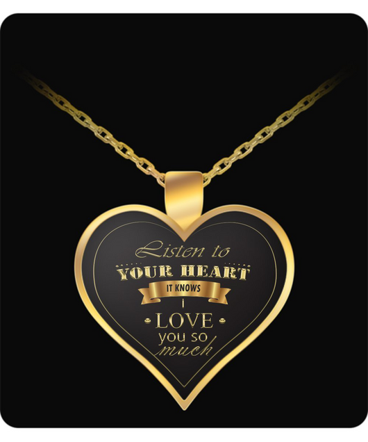 Heart Necklace For Girlfriend - Gold Chain Pendant - Cute Gift - Uncle Seal