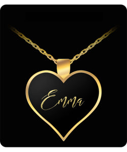 Emma Name Necklace - Personalized Charm Heart Pendant - Gold/Silver Color  - Lovely Present For Any Occasion - Daughter Gift - Uncle Seal