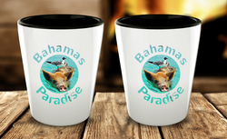 Bahamas Shot Glass - Funny Bird Nesting on Pig - Cute Gift - Perfect Gift For Birthday, Christmass, Men, Women, Friend, Ideal For Kitchen. - Uncle Seal