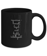 Zodiac Signs Coffee Mug Black with text - Capricorn design B&W style - Uncle Seal