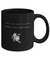 Zodiac Signs designs Black Coffee Mug - Leo - Uncle Seal