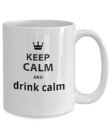 Keep Calm and drink calm! - White Coffee Mug - Uncle Seal