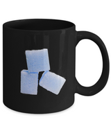 Blue Sugar Cubes - Coffe Mug Black - Uncle Seal