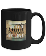 Family love design - Black Coffee Mug - Uncle Seal