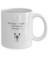 Zodiac Signs Coffee Mug design White Scorpio - Uncle Seal