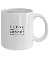 I Love Soccer design - White Coffee Mug - Uncle Seal