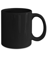 Love flowers Black Mug Coffee red - Uncle Seal