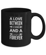 Father and Daughter Love - Black Coffee Mug - Uncle Seal