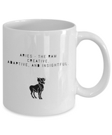 Zodiac Signs with slogan Coffee Mug design white - Aries - Uncle Seal