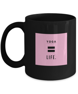 Life is Yoga - Black Coffee Mug - Uncle Seal