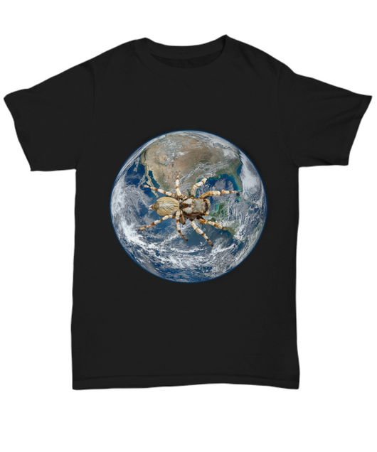 Spider dominates the world - Black Tshirt - Uncle Seal