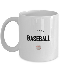 I love BaseBall ball - White Coffee Mug - Uncle Seal