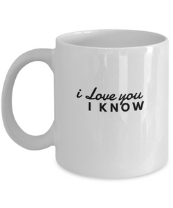I Love You Coffee Mug - 11oz White - Romantic & Cute - Gift For Him & Her - Uncle Seal
