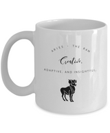 Zodiac Signs with slogan Coffee Mug - Aries - Uncle Seal