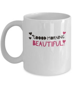 I Love My Girlfriend Coffee Mug - For Her - Good Morning Love Tea Mug - Uncle Seal