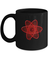 Nuclear Atom Design - Coffee Mug Black - Uncle Seal