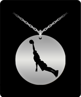 Basketball Necklace For Boys - Laser Engraved Silver/Gold Pendant  Sports Charm - Uncle Seal