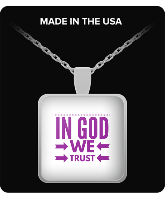 In God we Trust - Necklace pink - Uncle Seal