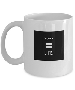 White Coffee Mug - Life is Yoga - Uncle Seal