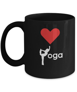 Love Yoga - Black Coffee Mug - Uncle Seal