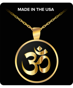Om Necklace - Gold Chain Pendant Charm - Inspirational - Round/Square - Uncle Seal