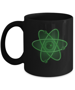 Nuclear Atom Design - Coffee Mug green - Uncle Seal