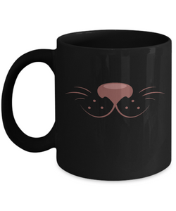 Cute Travel Mug - Black 11/15 oz Coffee or Tea Cup - Lovely Gift - Uncle Seal